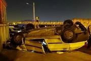 واژگونی پراید در اتوبان سعیدی به سمت اسلامشهر ۳ کشته برجا گذاشت