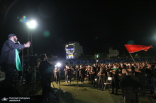 عزاداری شب عاشورای حسینی(ع) در ورزشگاه حیدریان قم