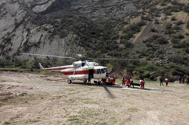 12 گروه امدادی به محل حادثه سقوط بالگرد اعزام شد