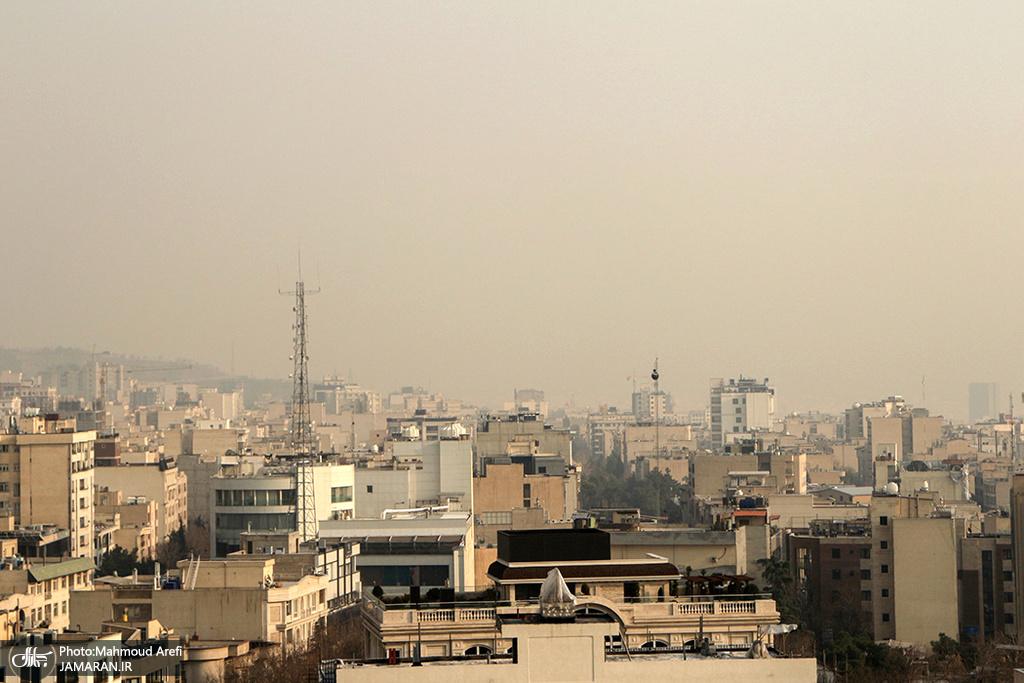 کیفیت هوای تهران برای هفتمین روز متوالی ناسالم است