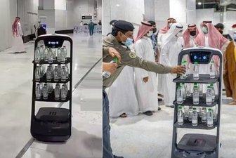 ورود فناوری روباتیک در مسجدالحرام در دوران کرونا+ عکس و ویدیو