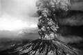لحظه رانش زمین و فوران کوه آتشفشانی سنت هلن