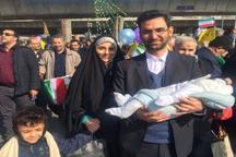 حضور وزیر ارتباطات به همراه همسر و نوزادش+ عکس