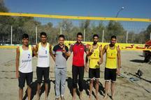 گلستان قهرمان والیبال ساحلی امیدهای کشور شد