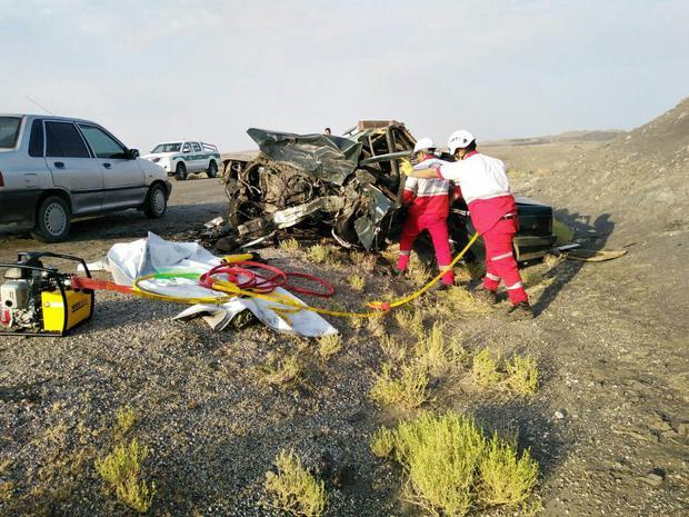 فوت 4 نفر و مصدومیت 7 تن در تصادف جاده طبس ـ یزد