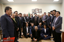 دیدار جمعی از انجمن جامعه مهندسان ایران با سید حسن خمینی