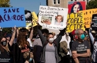 تظاهرات صد هزار زن علیه ترامپ