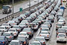 ترافیک در محورهای ارتباطی البرز سنگین است