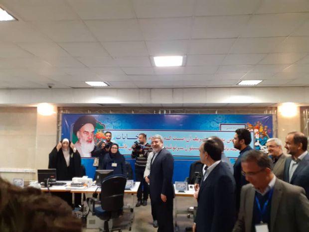 وزیرکشور از روند ثبتنام داوطلبان مجلس بازدید کرد
