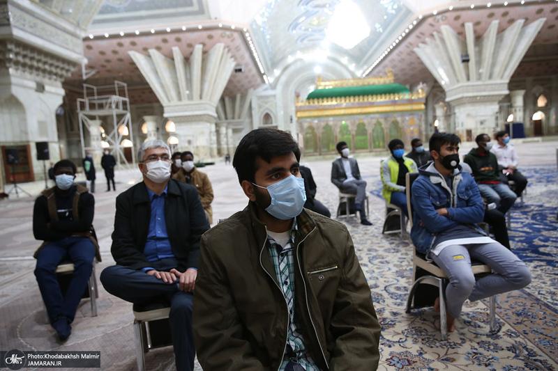دیدار جمعی از دانشجویان خارجی دانشگاه علوم پزشکی تهران با سید حسن خمینی