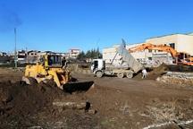 عملیات اجرایی بخش توسعه بیمارستان امام خمینی(ره)نقده آغاز شد