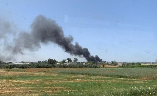 وقوع آتش سوزی بزرگ در نزدیکی فرودگاه بن گوریون در تل آویو