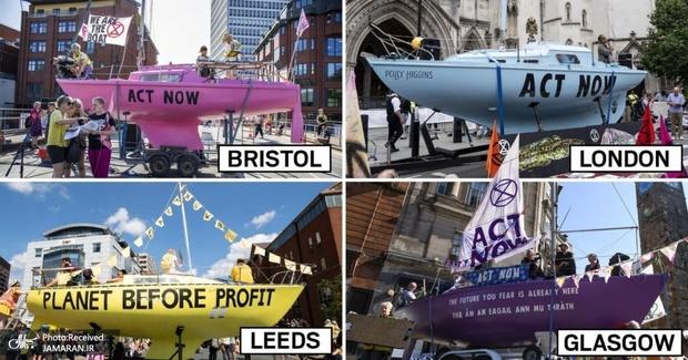 قایق های اعتراضی+ تصاویر