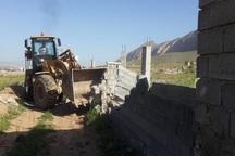 ساخت و سازهای غیر مجاز در زمین های کشاورزی شیراز تخریب شد