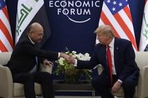 دیدار رئیس جمهور عراق با ترامپ+عکس