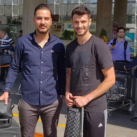 بازیکن اردنی فولاد وارد تهران شد+ عکس