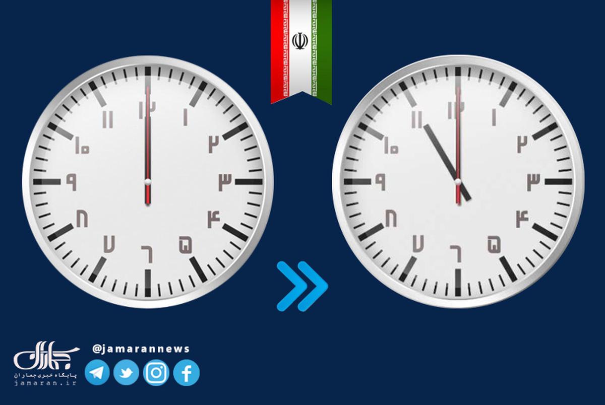 ساعت رسمی کشور در 30 شهریور 1400 یک ساعت عقب کشیده شد