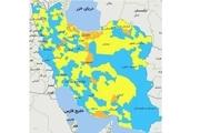 اسامی استان ها و شهرستان های در وضعیت نارنجی و زرد / جمعه 17 بهمن 99