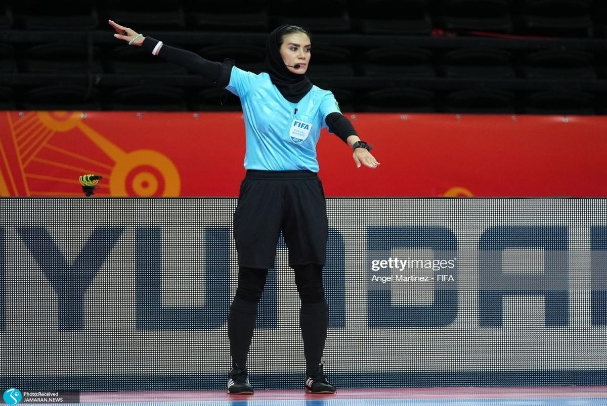 زن ایرانی در جام جهانی فوتسال تاریخ سازی کرد؛ گلاره ناظمی داور فینال شد +عکس