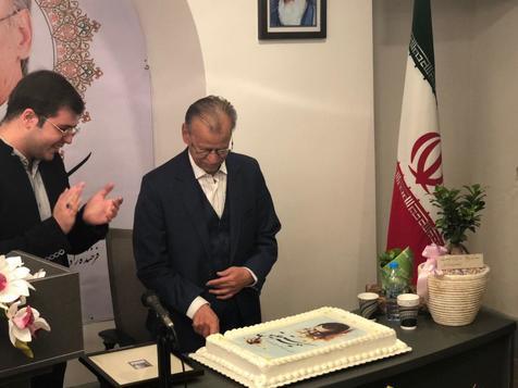 برپایی مراسم زادروز استاد اخوین در موزه خوشنویسی