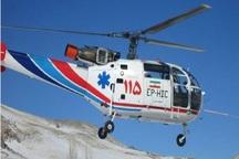 اورژانس هوایی لرستان 2 مادر باردار را از مناطق سیلزده منتقل کرد