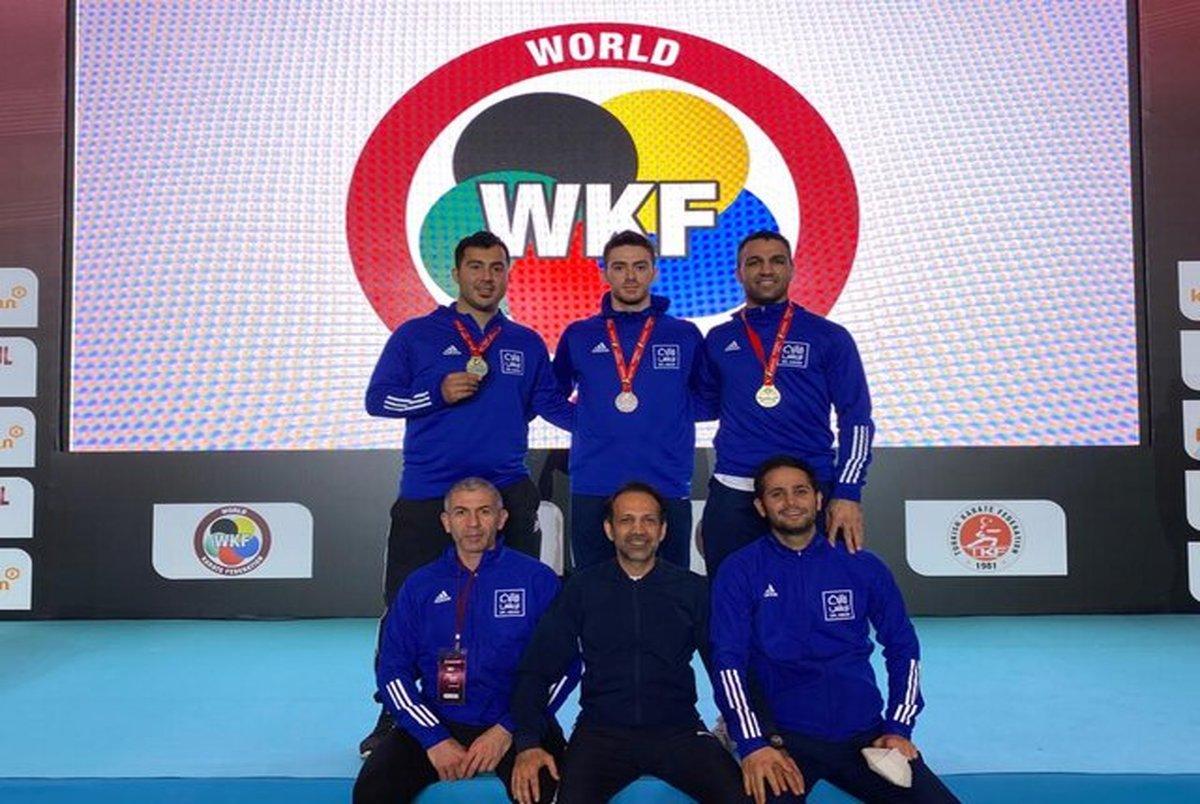 سومی تیم ملی ایران در لیگ جهانی کاراته وان ترکیه