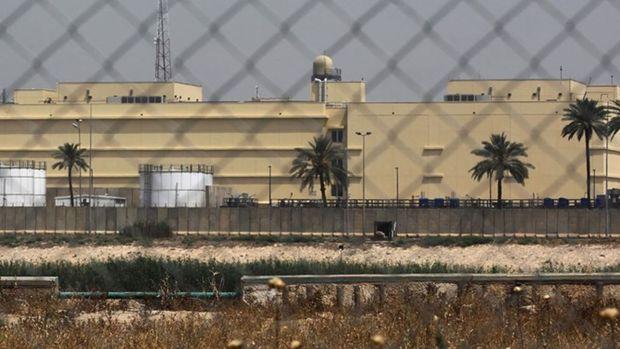 حمله پهپادی به سفارت آمریکا در بغداد و تعطیلی بخش نظامی آن + فیلم