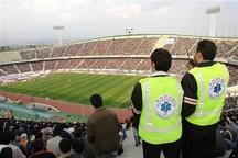 25 هوادار تیم استقلال تهران در ورزشگاه آزادی درمان شدند