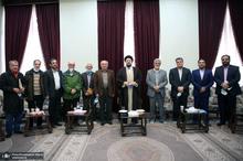 دیدار شورای مرکزی انجمن اسلامی مدرسین دانشگاهها با سید حسن خمینی
