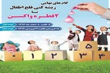بیش از 55 هزار کودک در سیستان علیه فلج اطفال واکسینه شدند