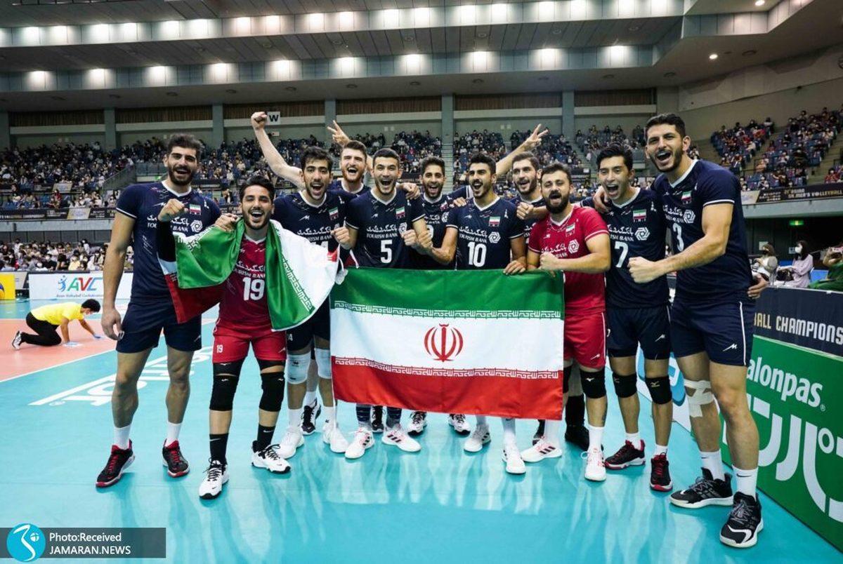 کمیته ملی المپیک قهرمانی تیم ملی والیبال را تبریک گفت