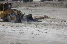 یک هکتار از اراضی ملی منابع طبیعی در بندر خمیر رفع تصرف شد