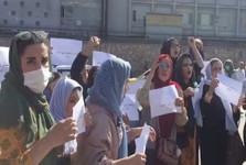 زنان افغانستان پا پس نمی کشند/ادامه تظاهرات علیه طالبان+عکس