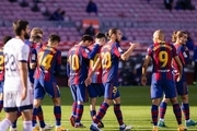 نوار پیروزیهای بارسلونا قطع شد
