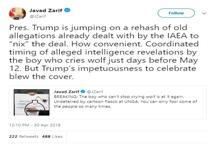 ظریف: ترامپ برای فسخ برجام متوسل به اتهامات کهنهای شده است