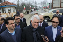 وزیرحمل ونقل آذربایجان برای آیین افتتاح راه اهن به ایران آمد
