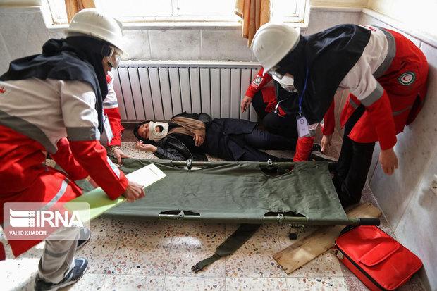 دانشآموزان گلستان مانور زلزله و ایمنی برگزار کردند
