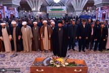 تشییع و خاکسپاری پیکر حجت الاسلام والمسلمین شیخ علی اکبر مهربان