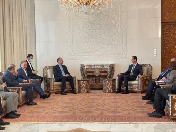 امیرعبداللهیان در دیدار با بشار اسد: به زودی به مذاکرات وین باز می گردیم