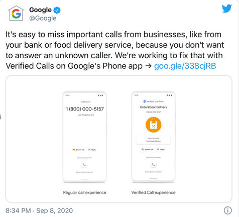 قابلیت جدید گوگل برای شناسایی تماس های اسپم