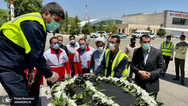 بدرقه پیکر دو خبرنگار جان باخته به سمت تهران + تصاویر