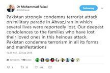 وزارت خارجه پاکستان حمله تروریستی به رژه اهواز را محکوم کرد