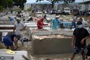 تصاویر/ اجساد کرونایی ها در خیابان رها می شوند!