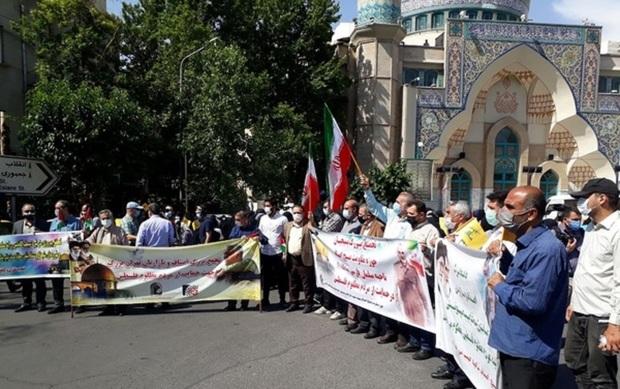 تجمع مردم تهران در حمایت از پیروزی مقاومت فلسطین + عکس