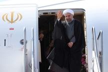 رییس جمهوری بندرعباس را به مقصد تهران ترک کرد