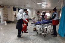 عیادت جوانان هلال احمر ایلام از زائران بستری در مراکز درمانی