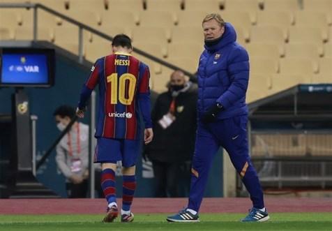 کومان: مطمئن نیستم که مسی در بارسلونا بماند/ دلخوری لئو مشکل من نیست