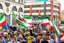 راهپیمایی با شکوه 22 بهمن در شهرستان پردیس برگزار شد