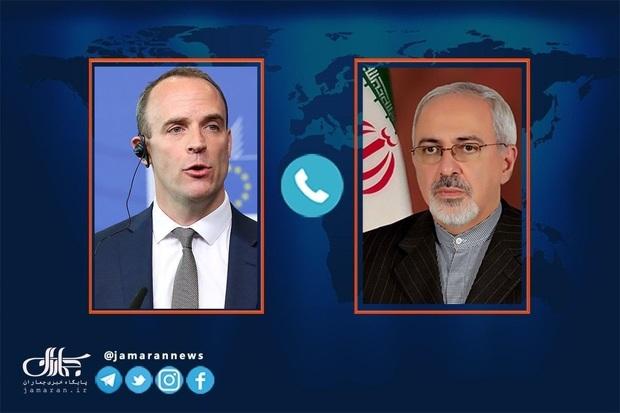 ظریف: با وزیر خارجه انگلیس در خصوص لزوم از سرگیری پایبندی کامل به برجام توافق کردیم