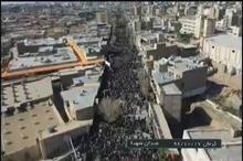 تصاویر هوایی از حضور میلیونی مردم عزادار کرمان برای تشییع و تعظیم سردار دلها شهید حاج قاسم سلیمانی